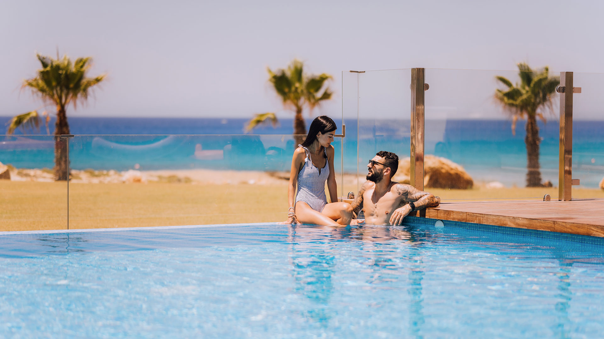 couple at vivo mare cyprus